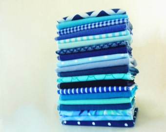 10 Blue Napkins - Cloth Napkins - Modern Reusable Paper Towels - Unpaper Napkins - Casual Napkins - Eco Friendly - Everyday - 10 x 12 cb