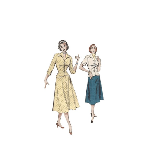 Sale Vintage 1950s Flared A Line Skirt Sewing Pattern