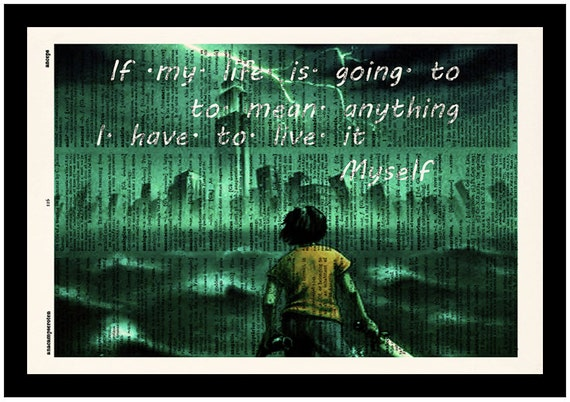 The Lightning Thief Quotes Print Percy Jackson Print By