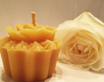 Cupcake Beeswax Candle. Available in Pure Beeswax and also in a variety of scents, all hand blended with 100% essential oils.