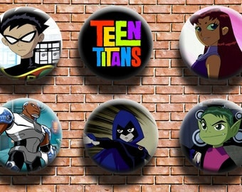 Teen Titans 1.25 Inch Button Six Pack