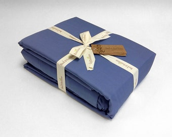 Queen Duvet Set - 100% Bed and Bamboo - Linens Luxury Silky Pillowcase and Duvet
