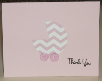 Baby Thank You Baby Cards,  Thank You Cards, Baby Shower, Newborn, Congrats,  Welcome Baby Cards, new Baby, Baby Girl Cards