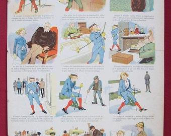 Le Premier Cigar French Newspaper Illustration