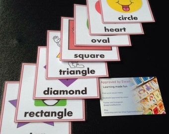 Personalised Shapes flashcards