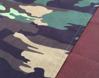 Camouflage Table Runner:  Accent Table Mat or Runner Ideal for an Army Party, Military Party or Camouflage Party