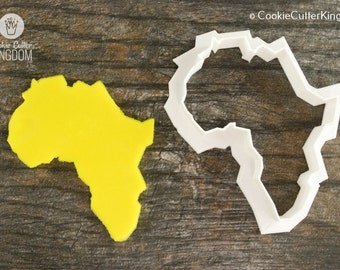 Africa Cookie Cutter, Mini and Standard Sizes, 3D Printed