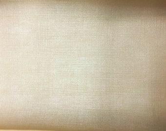 "Almond Beige Linen Vinyl Fabric - Sold By The Yard - Width 56"""