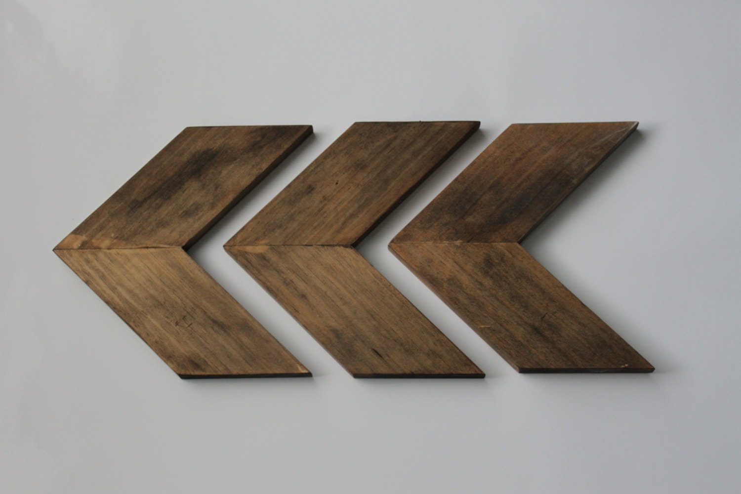 Wall Decor Wooden Arrows : Set of wood chevron arrows arrow wall art modern