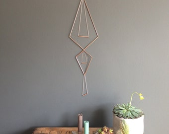 Kite Geometric Copper Wall Hanging Mobile