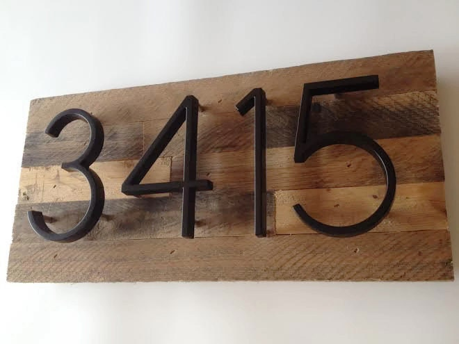 Custom Address Plaque made from Reclaimed Wood rustic