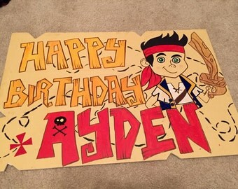 Jake and the Never Land Pirates Birthday Board