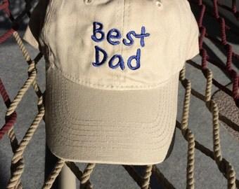 Best Day - Khaki W/Navy Lettering