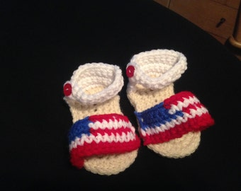 American Flag Sandals