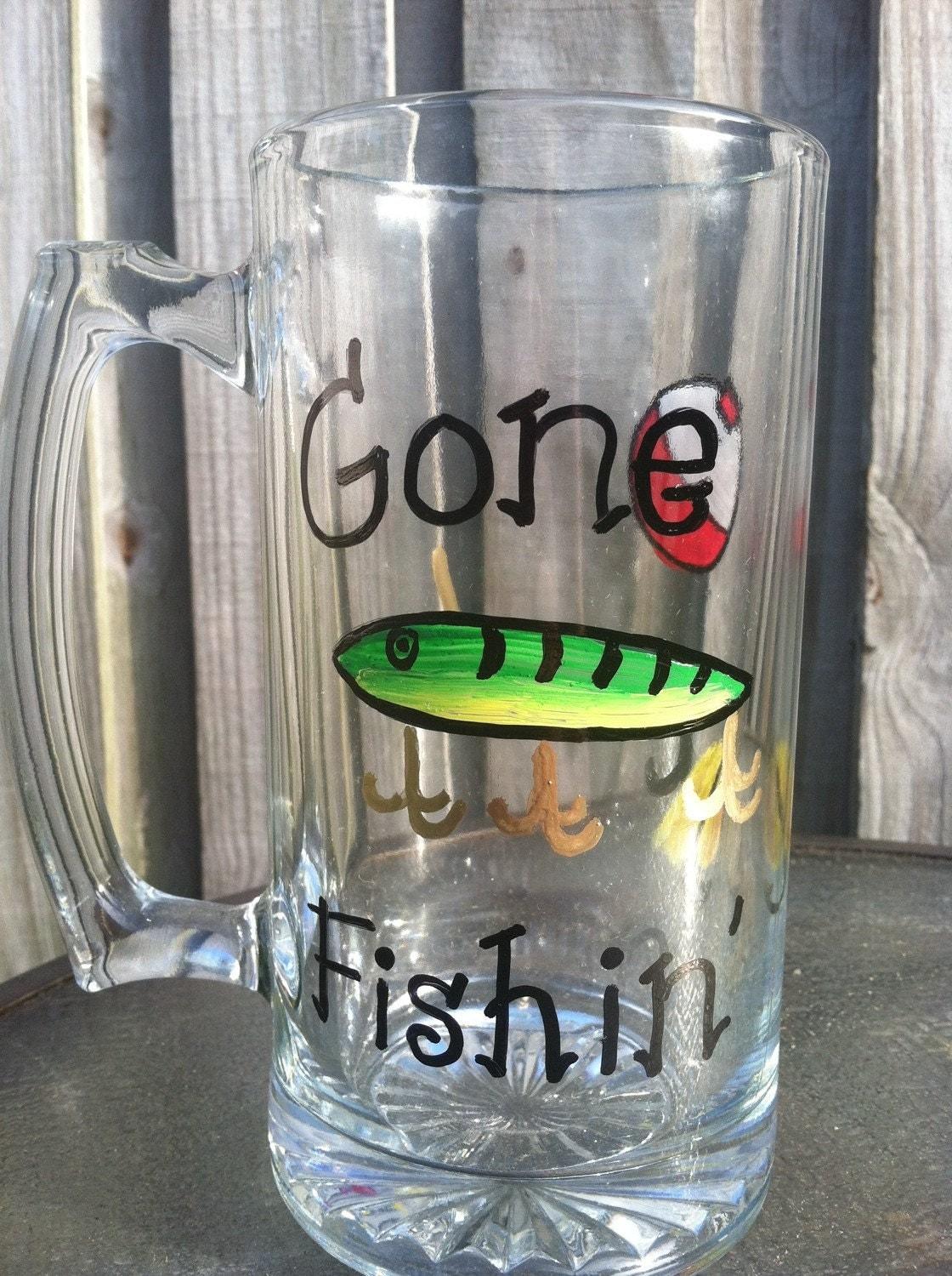 Fishing gifts for him handpainted custom fishing by for Fishing gifts for him