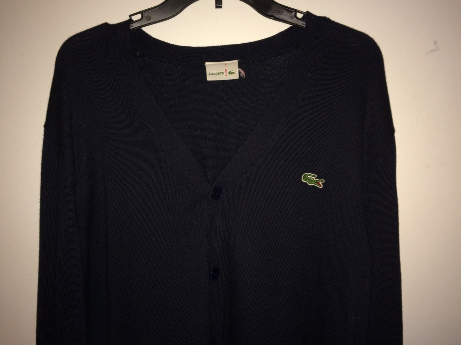 sale euc lacoste cardigan casual sweater sweatshirt by casualisme. Black Bedroom Furniture Sets. Home Design Ideas