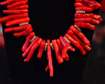 Statement Coral Branch Necklace