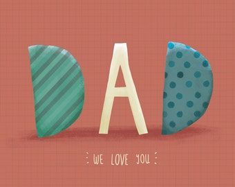 We love you card for Father's Day!