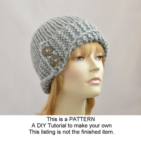 ... Hat Pattern, Womens Accessories, Winter Hat Pattern, PDF Knit Hat