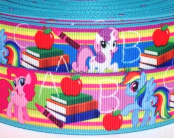 "School 1"" Grosgrain Ribbon - School Ribbon - 4 yards School Ribbon"