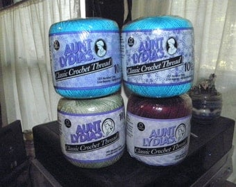 Four skeins Aunt Lydia's #10 classic crochet thread