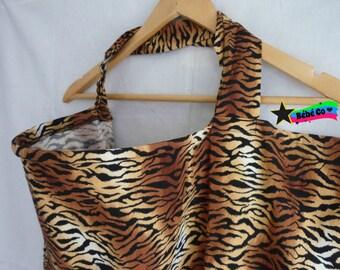 Nursing Cover tiger stripes with open neckline for moms