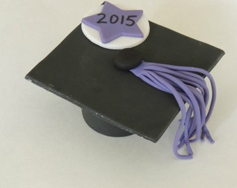 Fondant Graduation Hat Cake Topper