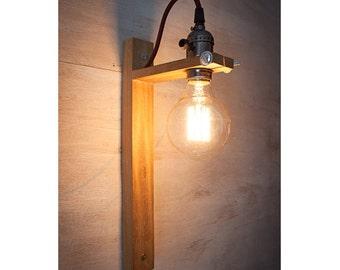 Wall Sconce G80 Edison lamp, Rustic wood lamp, Wood lamp, Rustic lamp, Wall light, Rustic wall sconce light, Lighting,Edison Wall Light II