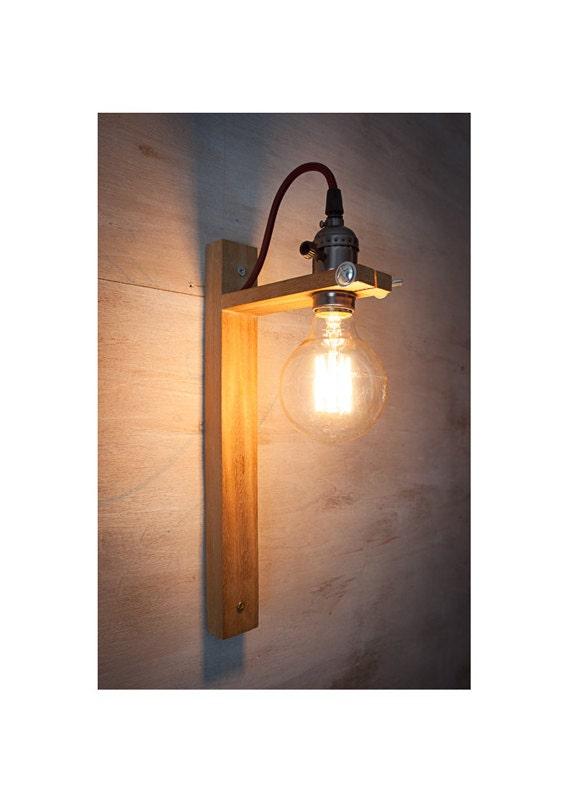 Wall Sconces Edison : Wall Sconce G80 Edison lamp Rustic wood lamp Wood lamp