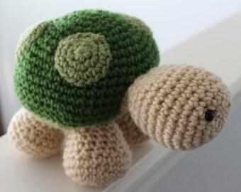 Crocheted stuffed turtle