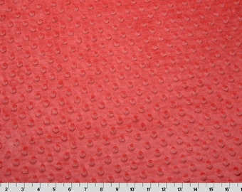 Dimple Dot Minky Cuddle in Watermelon Pink from Shannon Fabric