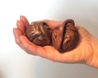 Dormice Sculptures in cold-cast bronze/copper
