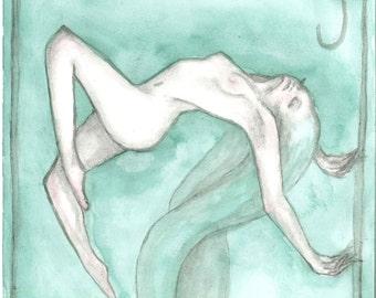 Watercolor painting, art print,