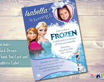 Frozen Birthday Invite Printable | Frozen Party Invitation. Customize it with your daughter as the Princess of the invite.