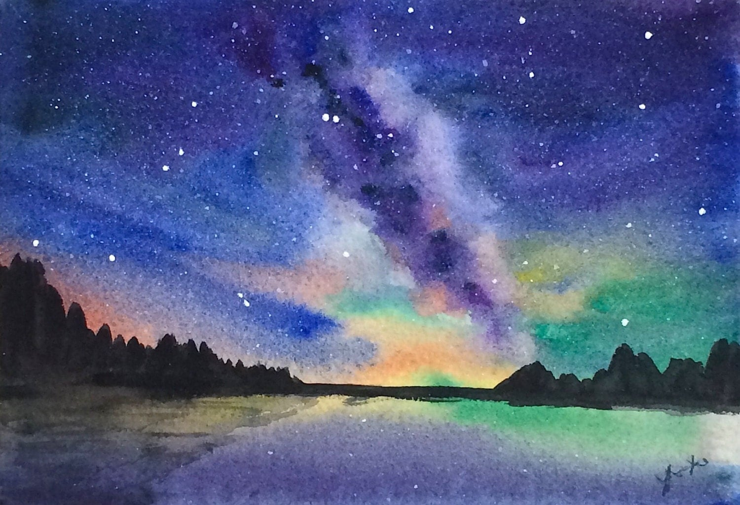 related keywords  u0026 suggestions for night sky watercolor