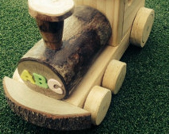 Handmade Wooden Train Engine