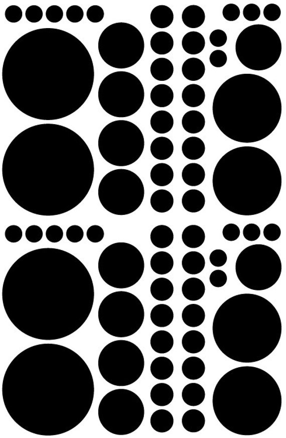 Black Polka Dots Vinyl Decals great for Teen, Kids, Baby, Nursery, Dorm Room Walls - Removable Custom Made - Super Easy to Install