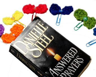 Bow Bookmarks - Handmade Knitted Craft