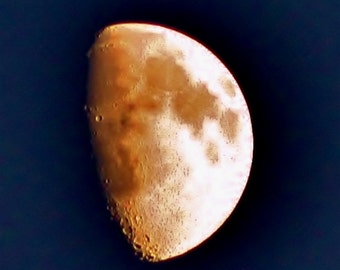 half moon at sundown