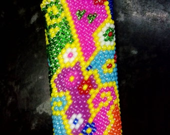 """Case for lighters """"Colorful"""" -handmade - made to order"""