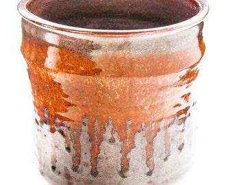 Vase/Pot. Hand-Thrown Ceramic Container.