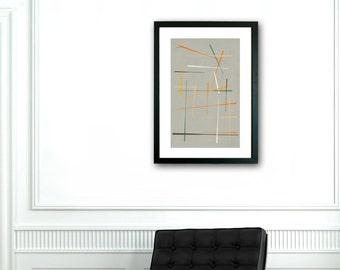 Mid Century Modern print, Abstract art, Minimalist art, Printable art, Geometric art, Scandinavian art, Modernist art, VIntage style art