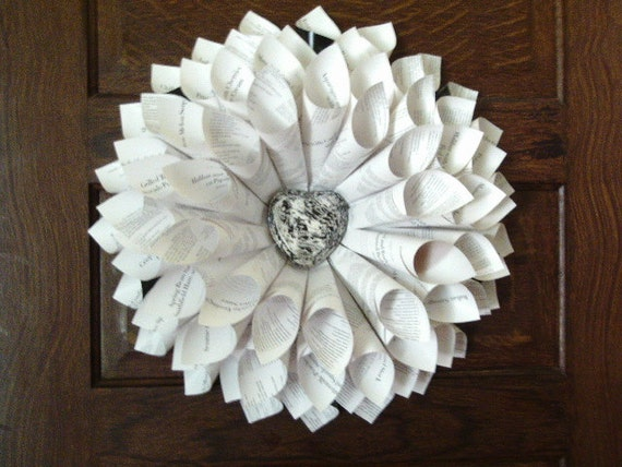 Cook's Wreath with vinegar painted heart medallion