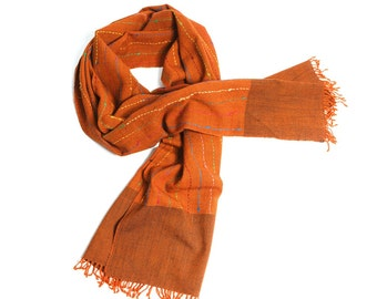 top stole, scarf woven hand