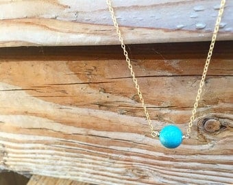 "Turquoise Ball ""Buoy"" Necklace"