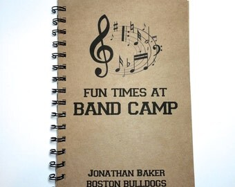 Band Camp, Band Camp Notebook, High School Band, Marching Band, Notebook, Journal, Band, Best Friend Gift, Notebook, gift, Sketchbook