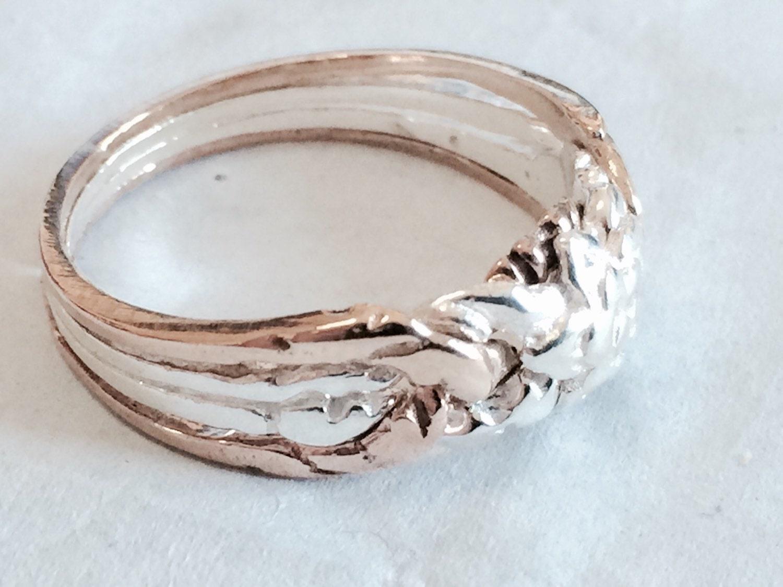 925k silver 4 band princess puzzle ring