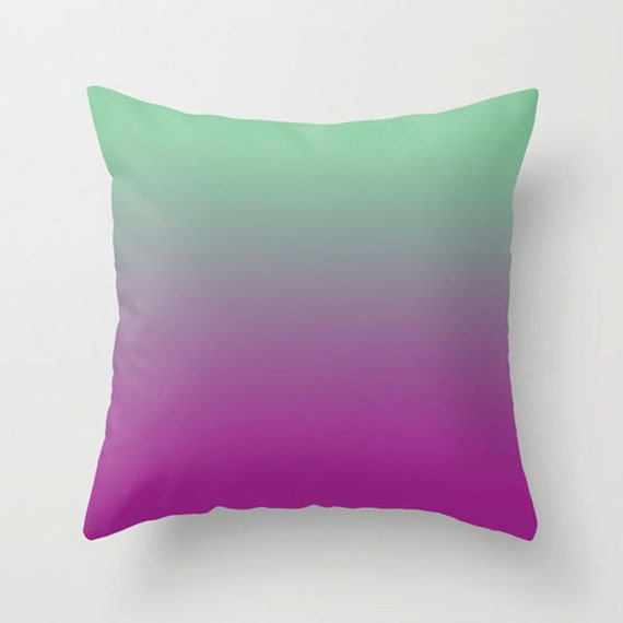 Purple Accent Pillows Modern : Items similar to Throw pillow purple green Decorative colorful modern design home decor accent ...