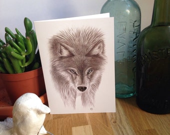 A6 Wolf Greetings card