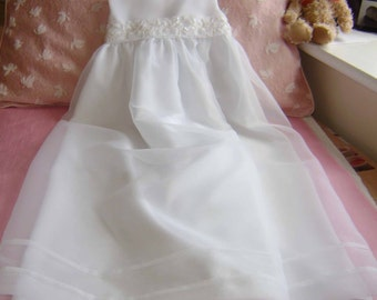 "A Pretty White Christening Gown - ""Evie"""